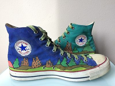 Vintage Converse High Top Sneakers Made in Korea size 10.5