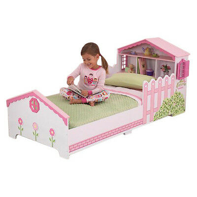 Dollhouse Convertible Toddler Bed New Dollhouse-Themed Wooden Girls Bed Pink