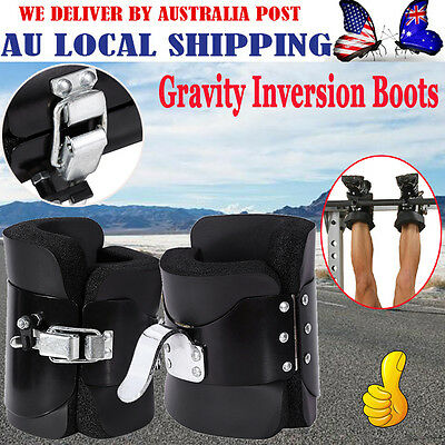 Gravity Inversion Boots Therapy Crossfit Hang Spine Posture Physio GYM Fitness G