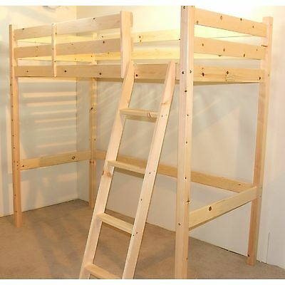 Bromley Loft Bunk Bed New Solid and Sturdy Pine Wooden High Sleeper Kids Bed