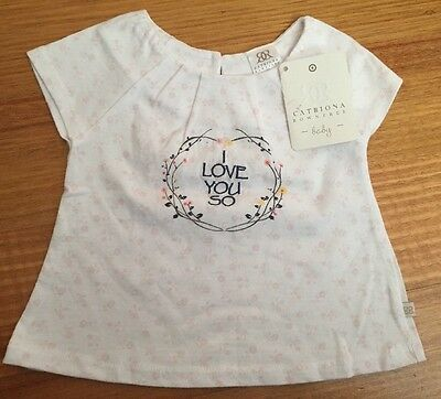 BNWT Baby Girls Catriona Rowntree Shirt Top Tshirt Size 00 Free Post