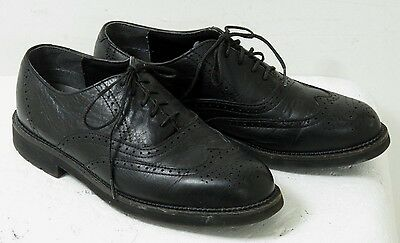 Used RED WING Mens Black Leather Work Wingtip Oxford Shoes SZ 10.5 D
