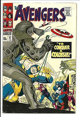 AVENGERS # 37 (To CONQUER a COLOSSUS, FEB 1967), FN/VF