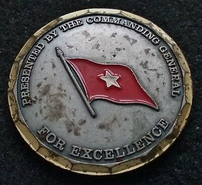RARE VINTAGE 1 Star General 5th Signal Command Commander US Army Challenge Coin