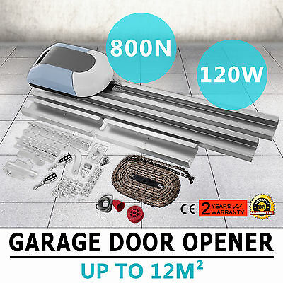 Auto Garage Door Opener 800N Operator Automatic Move Heavy Duty 2 Remotes