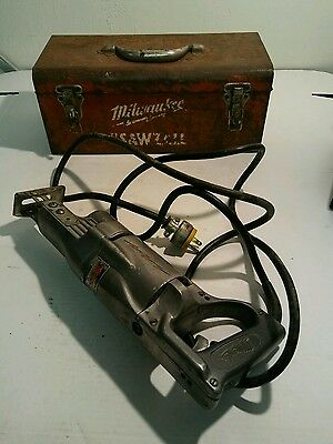 VINTAGE MILWAUKEE SAWZALL ELECTRIC SAW CAT# 6510, 4.0 Amps Orig Box tested E5