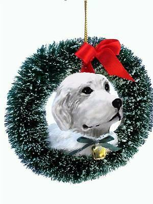 German Shepherd Head Christmas Wreath Ornament