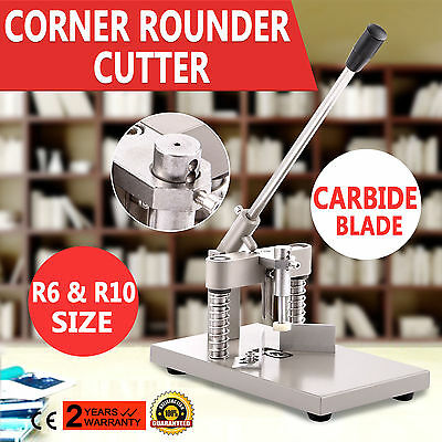 Corner Rounder Cutter Cutting Thick Stack 2 Dies R6 R10 Hold Paper Function