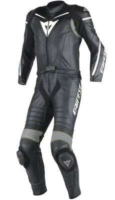 Dainese Laguna Seca D1 Leather suit High Quality Men´s Motorcycle black white