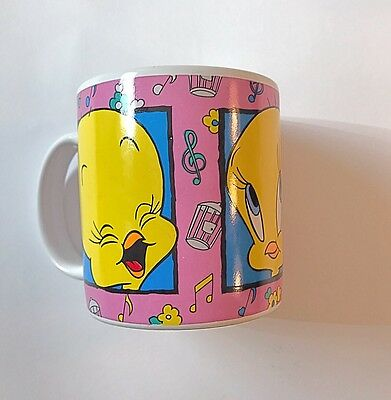 VTG TWEETY Bird Coffee Cup Mug 12 oz Ceramic 1994 Sakura Looney Tunes WB