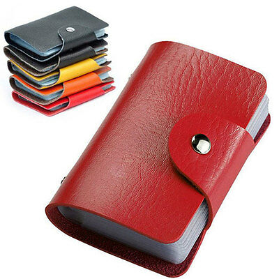 24 Bits Credit Card Holder PU Leather Wallet Business ID Holders Passport Cover
