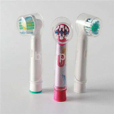 4pc Electric Toothbrush Clear Round Head Cover Anti Dust for Oral B FR
