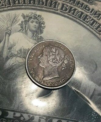 New Brunswick 1864 silver 20 Cents coin Extra Fine nice