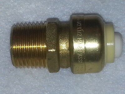 """1/2"""" Sharkbite Style Push Fit Repair Male Adapter MA Fitting. Lead Free. New"""