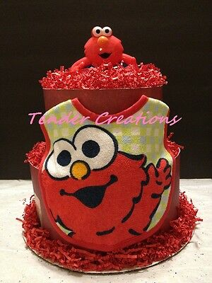Diaper Cake Two Layers NEW! Sesame Street Elmo Baby Shower Decoration