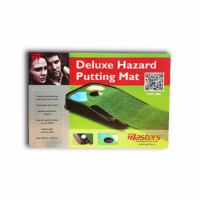 Masters Golf Ball Putter Training Aid Deluxe Hazard Putting Mat