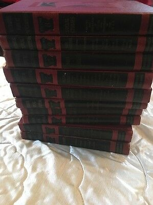 1945 Complete Set Richards Topical ENCYCLOPEDIAS by j.a.richards signed