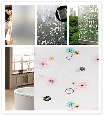 Adhesive Film Sticker Frosted Privacy Home Bathroom Window Glass Static 45*100CM