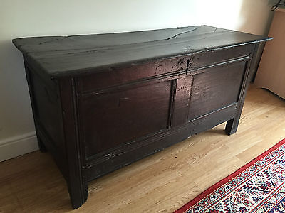 Antique Oak Early 18th Century Coffer/Blanket Chest