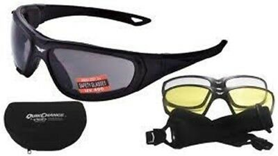 Modeka Quick Change Kit Motorcycle Sunglasses 3 various Glasses Iron and Tape
