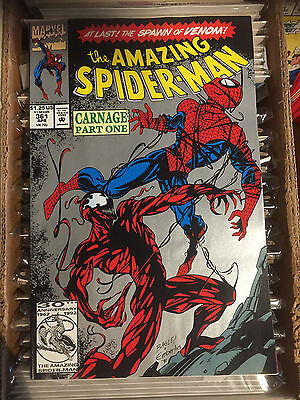 Amazing Spider-man (1963) # 361 VF/NM (2ND PRINT SILVER COVER) 1st APP CARNAGE