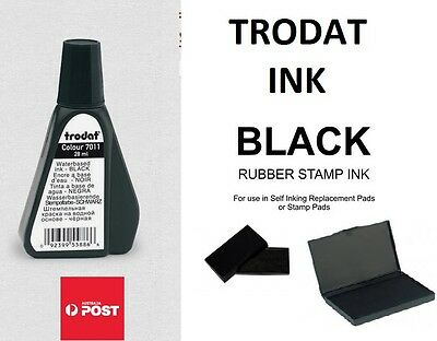 Trodat stamp Black ink 7011 for self inking stamps 28ml waterbased for inkpads