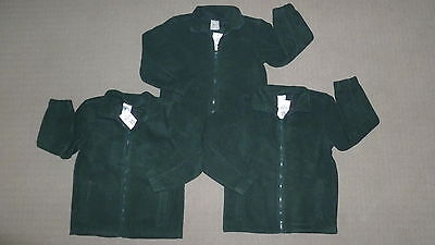 **BNWT** 3 x Kids Bottle Green Polar Fleece Jacket – Perfect for School - Sz 10