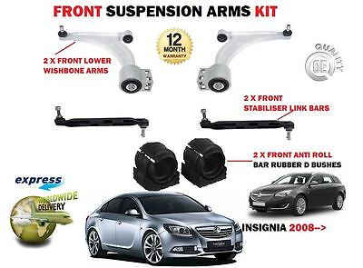 For Opel Vauxhall Insignia 2X Front Wishbone Arms +  Stabiliser Links + Bushes