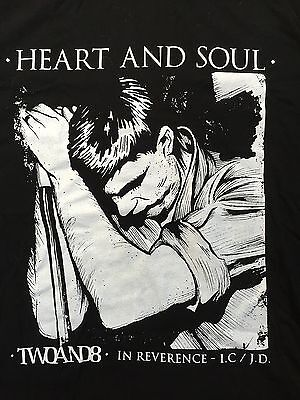 New Joy Division Ian Curtis Black Fitted T-Shirt Size Large Girls