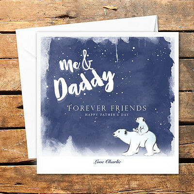 Personalised Handmade Fathers Day Card Dad Daddy Happy Birthday Any Occasion