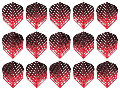 Red Metallic 5 Sets Harrows Dimplex Standard Dart Flights 15 Flights