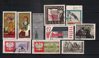Poland 1966 Lot Used    - 6/6