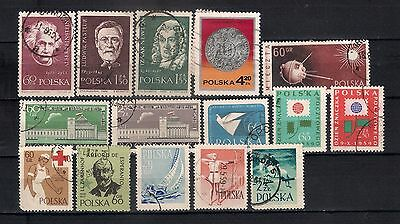 Poland 1959 Lot Used    - 6/6