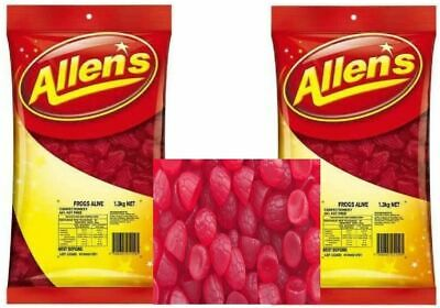 ALLENS RIPE RASPBERRIES 2.6 kg LOLLIES BULK PARTY FAVORS CANDY BUFFET FAVOURS