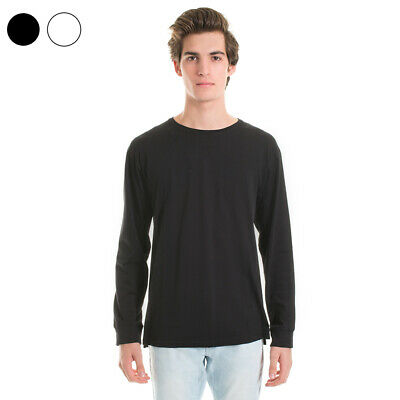 NEW Mens Plain Blank Longsleeve T-shirt 100% Cotton Quality Long Sleeve Tee Au