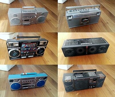 Lot de 6 Ghetto Blaster / Boombox (Willtech super Jumbo, Jvc, Philips...)