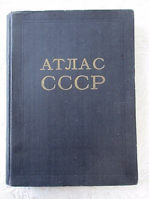SALE! Atlas book Rare book,Soviet political & physical map 1954 USSR Russia gift