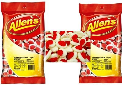ALLENS STRAWBERRY AND CREAM 2.6 kg LOLLIES BULK PARTY FAVORS SWEET CANDY BUFFET