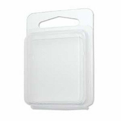 """100pc Clam Shell Packaging Display Retail Case 1 3/4"""" x 1 3/4"""" x 1/2"""" Clamshell"""