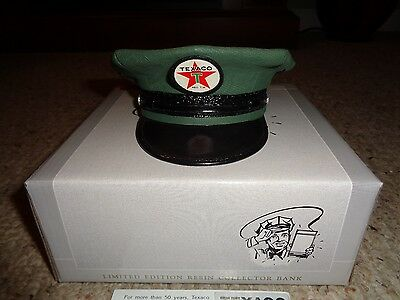 NIB SpecCast Green Texaco Attendants Cap/ Hat Replica Resin Bank