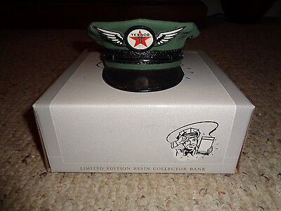 NIB SpecCast Green Texaco Attendants Cap/ Hat w/ Wings Replica Resin Bank