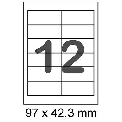 Internetmarke Frankatur 300 Etiketten 97x42,3 mm Label Post Frankierung 3659 A4