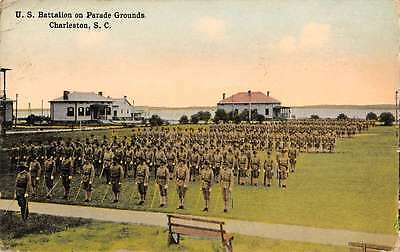 Charleston South Carolina Battalion Parade Grounds Antique Postcard K61387