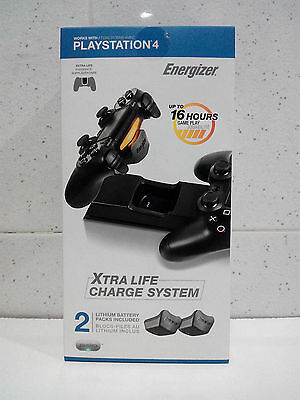 Cargador Doble Energizer  - Xtra Life Charge System + 2 Baterias Para PS4