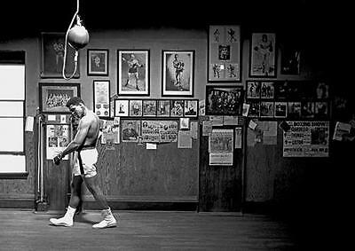 MUHAMMAD ALI POSTER Boxing Bag Gym Art Print Photo A3 A4