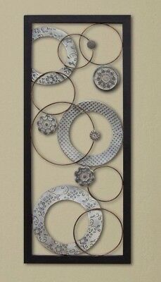 Large Contemporary Style Chic Metal Wall Sculpture Art Panel Plaque Home Decor