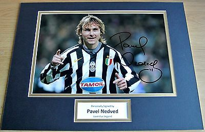 Pavel Nedved SIGNED autograph 16x12 photo mount display Juventus Football & COA