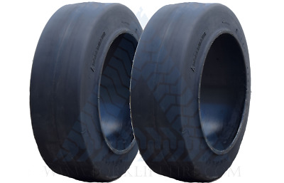 16x6x10.5   SMOOTH BLACK RUBBER SOLID FORKLIFT TIRE (ONE TIRE) 16610.5 16-6-10.5