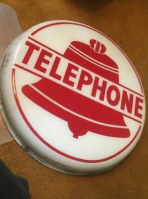 Vintage Telephone Booth Plastic Sign Bell Lighted Cover 24''- Pair (2 Covers)