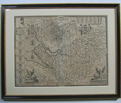 Cheshire: antique map by John Speed, 1627